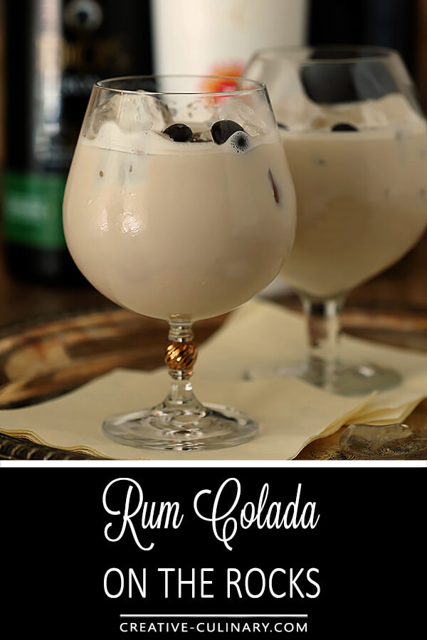 Rum Colada on the Rocks PIN