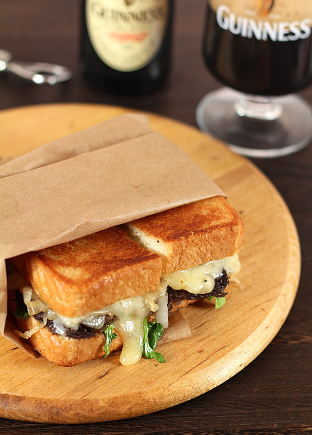 Short Rib, Caramelized Onion and Vermont Cheddar Sandwich