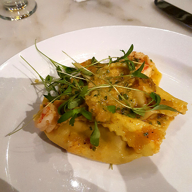 Shrimp and Grits Agnolotti