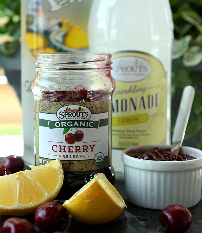 Spiked Cherry Mint Vodka Spritzer Ingredients