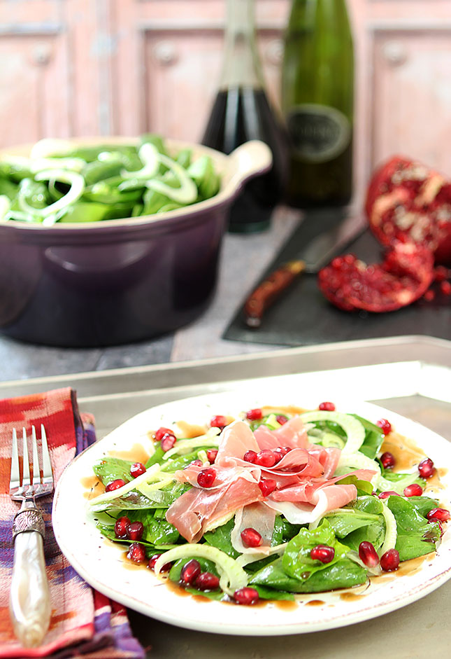 Spinach, Prosciutto and Pomegranate Salad by Barb Kiebel | Epicurious ...