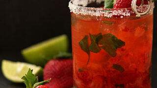 Strawberry Basil Margarita Cocktail