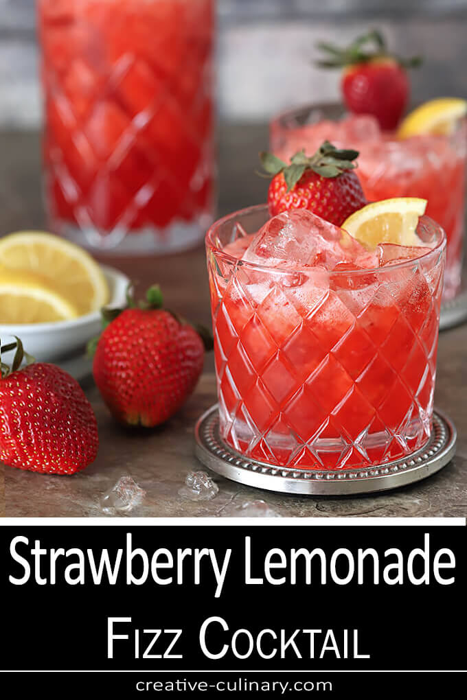 Strawberry Lemonade Fizz with Ginger Beer