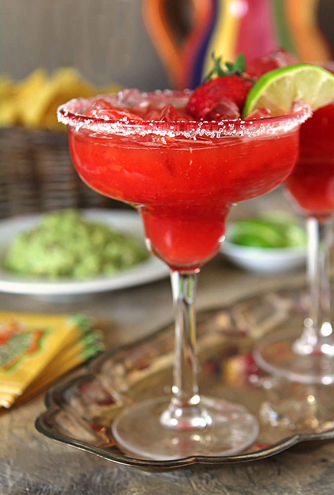 Fresh Strawberry Margarita Cocktail