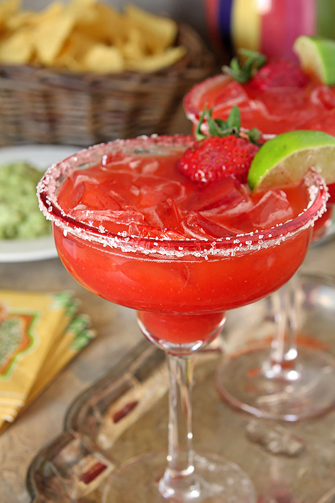 Fresh Strawberry Margarita for Cinco de Mayo