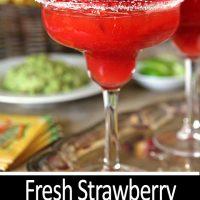 Fresh Strawberry Margarita for Cinco de Mayo