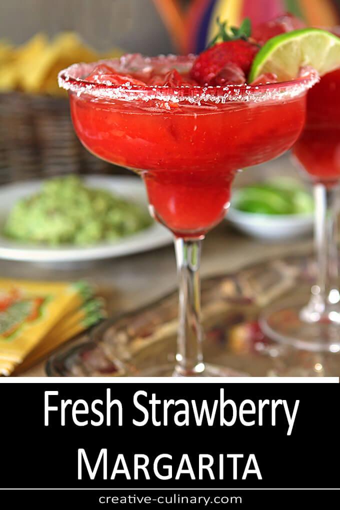 Fresh Strawberry Margarita Cocktail PIN