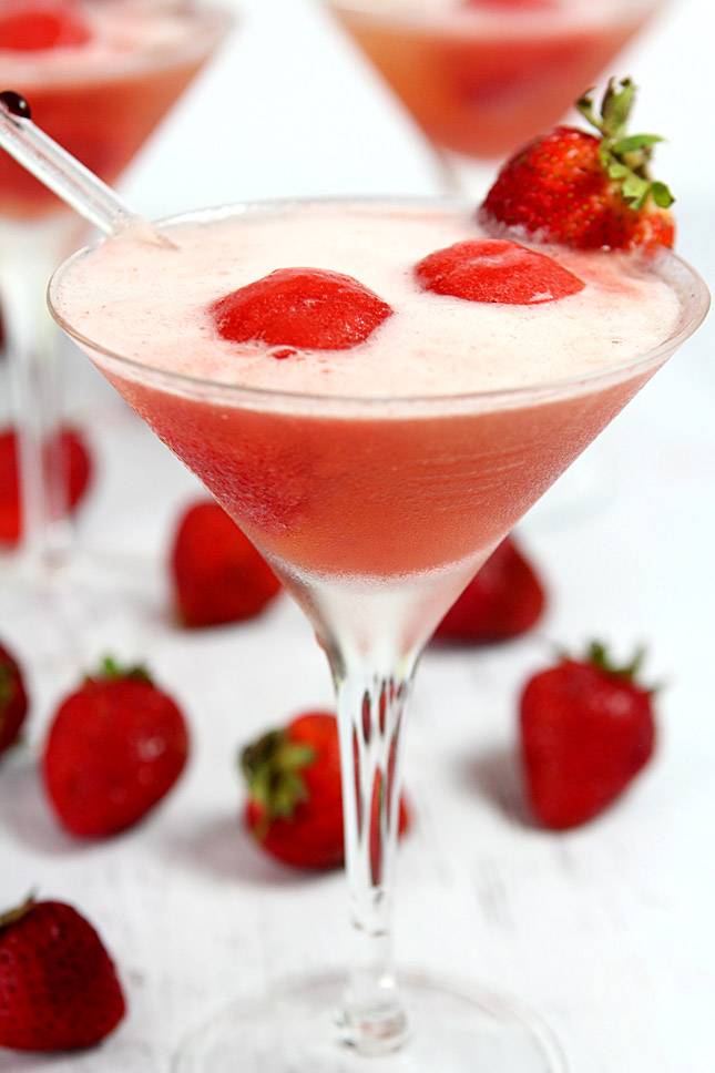 Sparkling Strawberry Sorbet