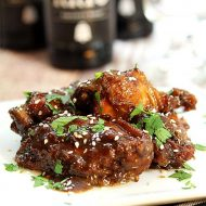 Slow Cooker Sweet, Spicy and Sticky Chicken Wings