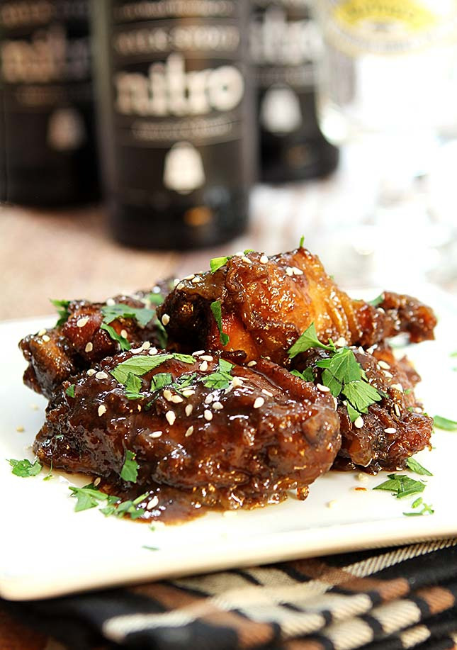 Sweet, Spicy and Sticky Chicken Wings in Slow Cooker