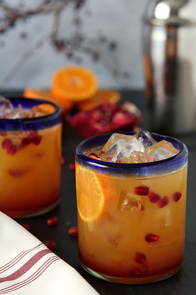 Tequila Sunrise with Fresh Pomegranate