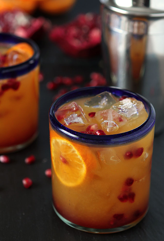 Tequila Sunrise with Fresh Pomegranate : Tequila : Creative Culinary ...