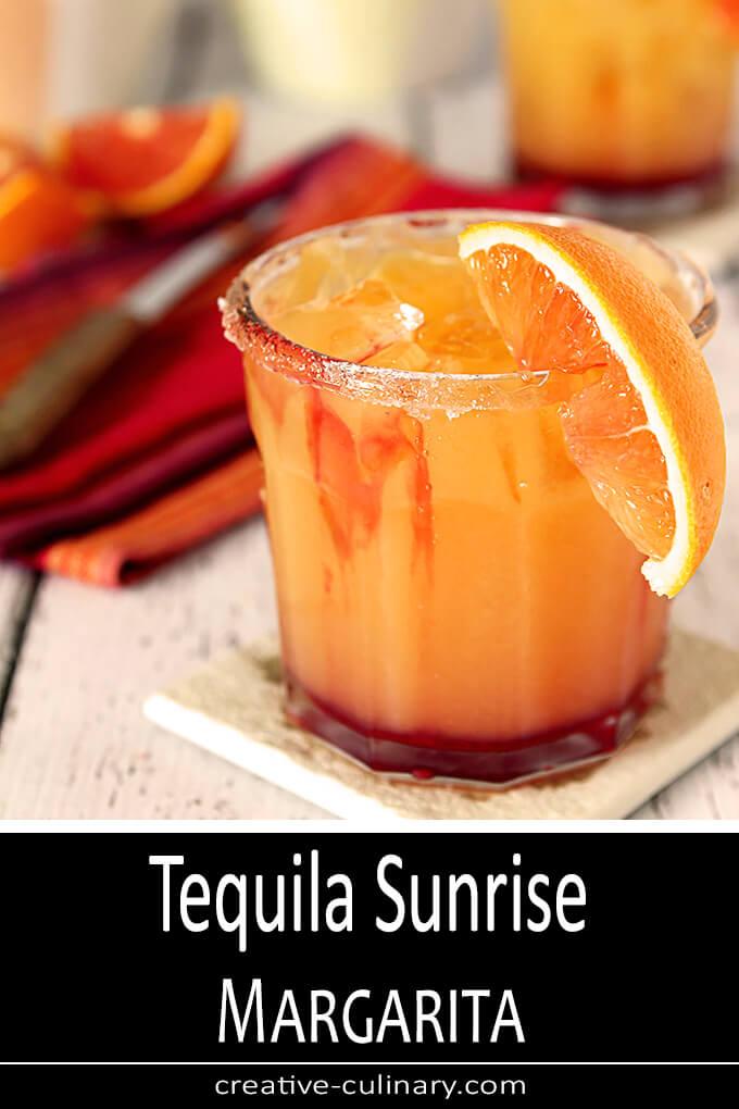 Tequila Sunrise Margarita