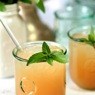Texas Bourbon Punch With Pink Grapefruit and Mint