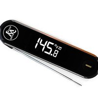 Best Instant Read Thermometer - Waterproof Digital Meat Thermometer with Folding Meat Probe for Kitchen and Outdoor Cooking - Ideal for any Food