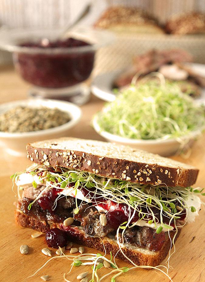 Turkey, Cranberry and Cream Cheese Sandwich