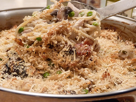 The Best Turkey Tetrazzini has Mushrooms, Bacon, Garlic and Herbs ...