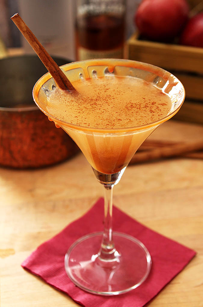 Awesome Warm Caramel Apple Martini