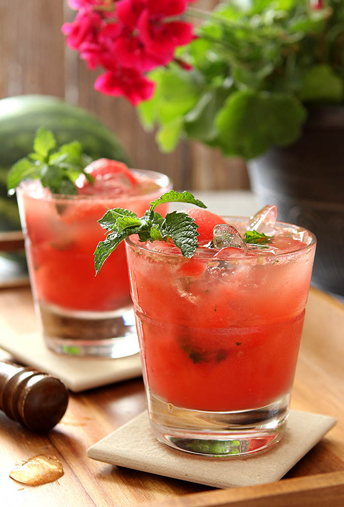 Watermelon Mint Mojito Cocktails