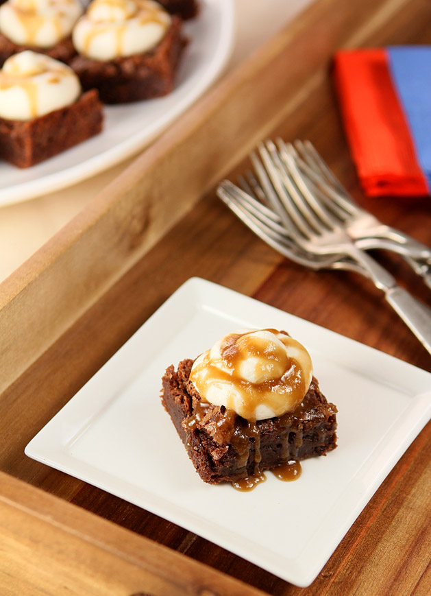 Bourbon Chocolate Brownies with Bourbon Buttercream and Sauce ...