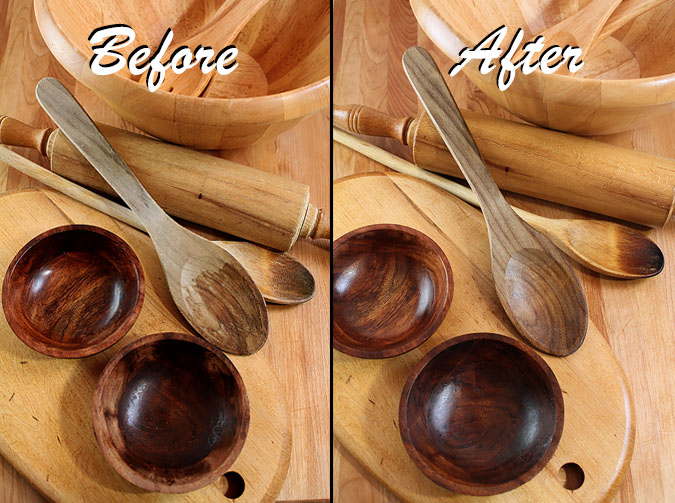 Wood Butter - Before and After